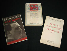 3 LIVRE PROPAGANDE COLLABORATION PETAIN VICHY HITLER GUERRE MONDIALE 1939 1945