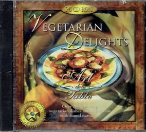 Vegetarian Delights - Art de la Table - Cooking Recipes Windows PC CD-ROM Sealed
