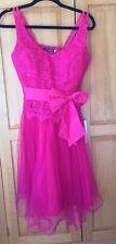* NEW * BNWOT * PINK PROM PARTY BALL DRESS SIZE UK 14 CHERLONE