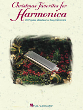 """Christmas Favorites for Harmonica"" MUSIC BOOK-20 Popular Melodies-NEW ON SALE!"
