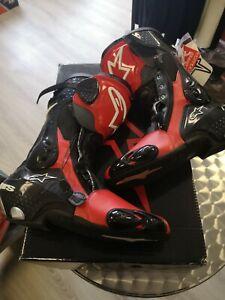 Alpinestars S-MX Plus  Motorrad Stiefel Rot  Gr. 46  UVP 339,95