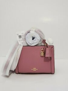 🌹NWT COACH MICRO ZOE CROSSBODY SATCHEL 3015 shoulder BAG LEATHER MINI ROSE
