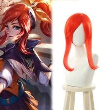 LOL Battle Academia Lux Cosplay Wig Orange Long Straight Ponytail Hair Wigs