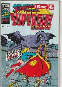 1976 Superman Presents SUPERGIRL #22 Australian Planet Comics DC Family 174