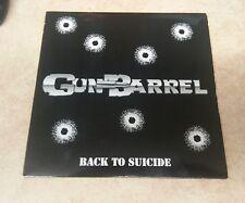 "Gun Barrell Back To Suicide 7"" White vinyl ltd power metal"