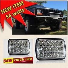 7x6 Led Hid Cree Light Bulbs Sealed Beam Headlamp Headlight Pair **54 WATTS**
