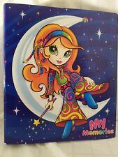 Lisa Frank Hippie Moon Girl 3 Ring Binder Crescent Blue My Memories Blue Stars