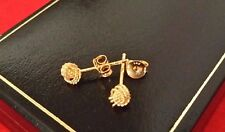 Le Ragazze Donna 9ct oro riempito Argento Sterling Piccolo Nodo Di Bali Orecchini A LOBO 3 mm