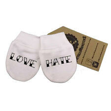 Metallimonsters Love Hate mittens alternative baby clothes tattoo gift metal