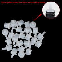 50Pcs Eyelash Extension Adhesive Glue Plug Cup Gluefalse Eyelash Extension Too *