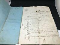Acte notarié manuscrit    - Vieux Papiers - 1853  - Gironde 4 pages reliées