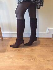 Christian Louboutin Alta Botta,Brown Nubuk Boots , Size 39, Uk 6