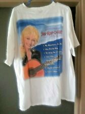 Size Xl Dolly Parton T-shirt white country music Land of Blue Smoke exclent cond