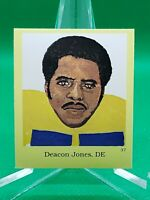 1990 HOF Sticker #37 Deacon Jones RARE ODDBALL Los Angeles Rams / Chargers