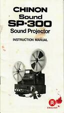 Chinon Sound SP-300 Super 8mm Film Projector - Owner/Operator Manual