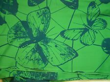 Fabric Green Blue Butterfly Butterflies Cotton 44 wide 3 yd plus 1 that was cut