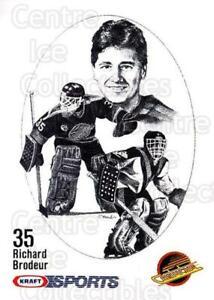 1986-87 Kraft Drawings #4 Richard Brodeur