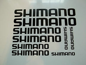 9 x Shimano Bike Vinyl Decal Stickers Frame Cycle Bicycle