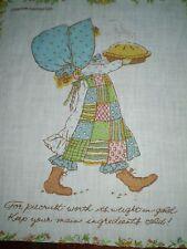 Vintage HOLLY HOBBIE PIE Fabric Panel (24cm x 28cm)