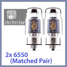 2x NEW Electro Harmonix 6550 EH 6550EH Power Vacuum Tubes, Matched Pair TESTED
