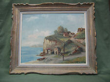 Oil Painting On Canvas Signed By 'g. Mario' Waterside Landscape Artwork