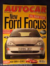 AUTOCAR Magazine 19th August 1998 Ford Focus