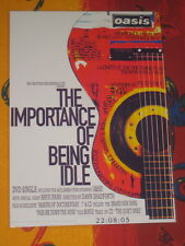 OASIS - THE IMPORTANCE OF BEING IDLE  -  LAMINATED PROMO POSTER