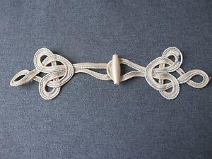 Metallic Silver 1 Pairpk Pineapple Design HANDMADE Chinese Frogs Button Closures Hook /& Eye Fastener #FG4759