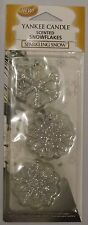 Yankee Candle Christmas Scented Snowflakes Sparkling Snow New Sealed Set of 3