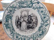 Assiette parlante n°10 Le sire de Francboisy Creil & Montereau   1840/1876
