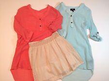 Lot of 3 - Joe B Lined Skirt & 2 iZ Byer Orange/Blue Tops - Junior Women Size M