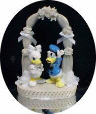 DISNEY Donald Groom & Daisy Duck Wedding Cake Topper Top  ARCH funny