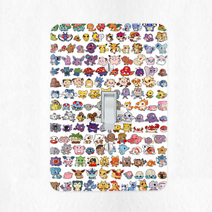 Pokemon Light Switch Cover Plate Duplex Outlet Pikachu Original 151 Cards New