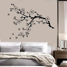 Vinyl Wall Decal Beautiful Tree Branch Nature Flowers Sakura Stickers (784ig)