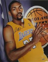 Ron Artest Metta World Peace Signed Autographed 16x20 Photograph Lakers UDA Blak