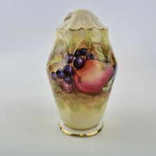 More details for vintage aynsley bobe china sugar caster ? /shaker decorated with fruit 12cm high