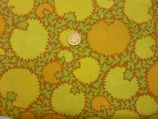 Quilting Fabric Plain Yellow & Orange Flowers 100% Cotton Fat Quarter