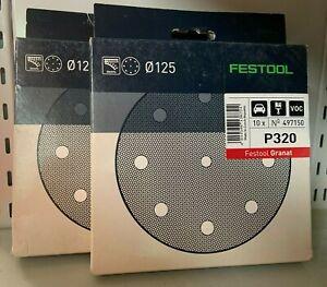 Festool Granat Discs Multi- Jetstream P320 2 Pack of 10 (20 Sheets)