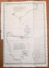 Large Important Map Australia Tasmania Matthew Flinders George Bass + 1800
