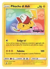 Carta RARA Pokemon PIKACHU DI ASH - Scelgo Te card collezione con codice qr 3ds