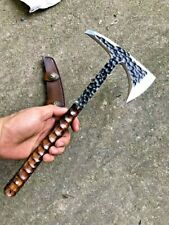 Handmade Tomahawk Axe Tactical Viking Hatchet Combat Warrior Battle Throwing Ax