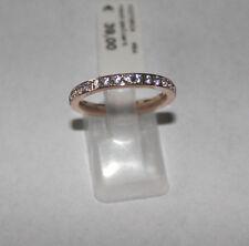 Ring Edelstahl rosé vergoldet Miami White Glas weiß Serie Victoria