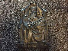 NWT Diesel Black Gold biker all leather jacket vest 48 50 saints M Medium