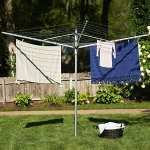 New Adjustable Outdoor Umbrella Clothes Line Dryer Backyard Air dry Rack 192'
