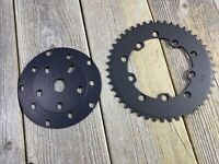 OLD SCHOOL BMX MX ASCO CHAINRING & SPYDER 46T CRANKSET POWER DISC 110 / 130 BCD