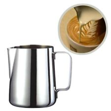 Silver Stainless Steel Water Coffee Milk Frothing Pitcher Jug Kitchen 350ml