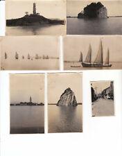 7 old photos China Nanking ,street , Ninkiang pagoda, little orphean, junks 1920
