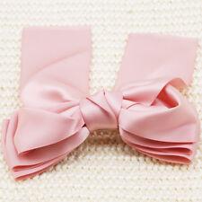Women Girl Large Satin Ribbon Bow Knot Barrette Hair Clip Pin Hair Accessory 6A