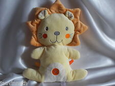 Doudou lion orange, semi-plat, Nicotoy