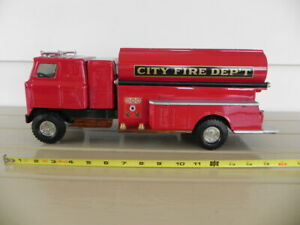 CUSTOM  FIRE DEPT  TANKER TRUCK pressed steel